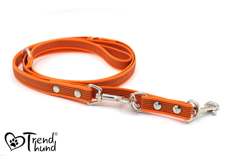 Leine aus Gurtband orange